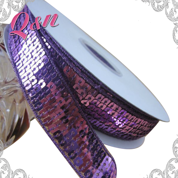 sequin Lace Trim Ribbon for Garment Accessories Wholesale