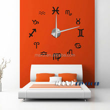 wall stickers home decor Large Clock Watch Best Acrylic Mirror Metal Wall Stickers Clocks Home Decoration