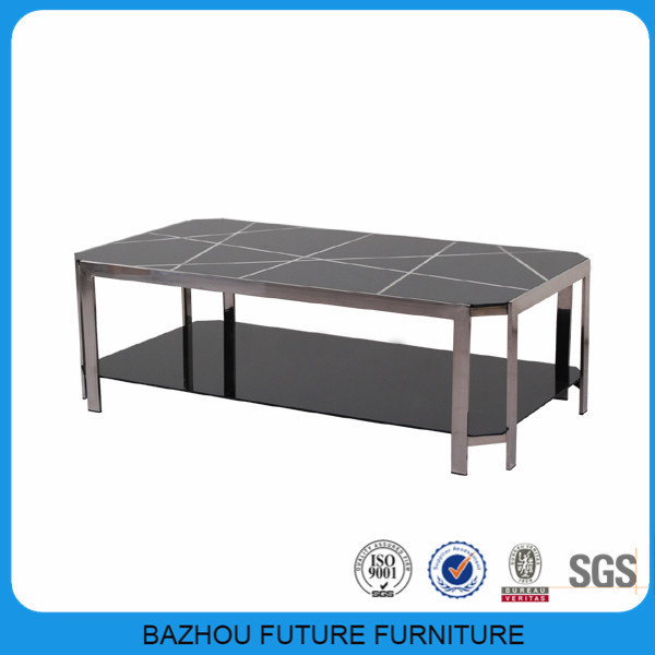 modern metal glass extra long coffee table