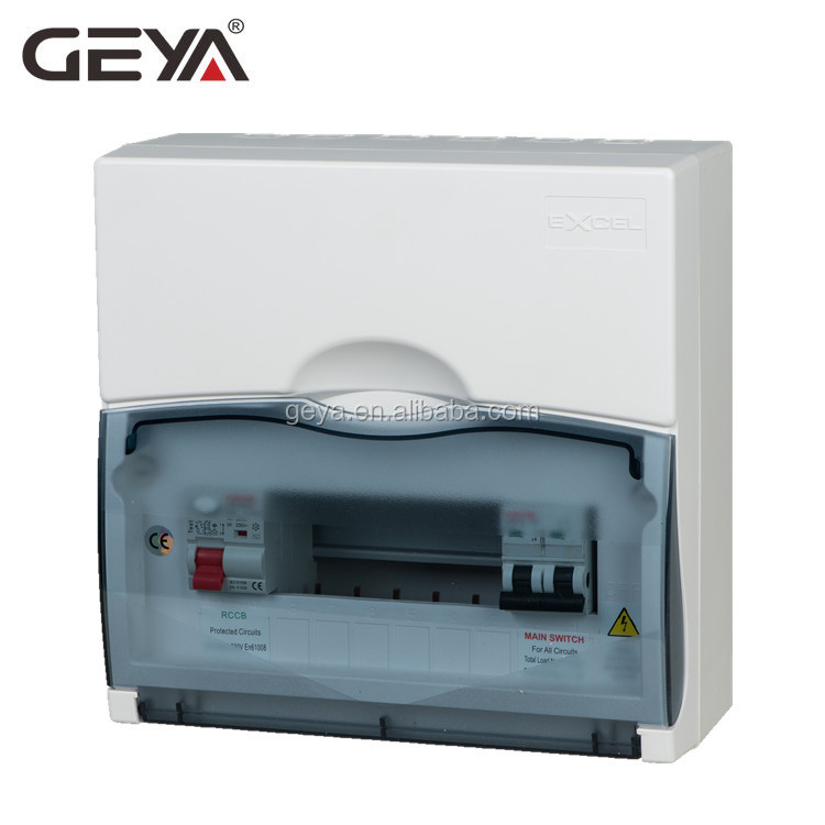 GEYA GYD8 British Design 10way Plastic Distribution Box ABS IP30 Electrical DB Box