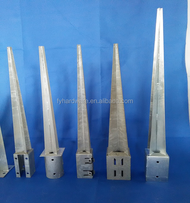 Galvanized Steel Post Support for Round Timber