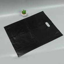 New style design HDPE resealable cut die plastice handle bag with your own logo