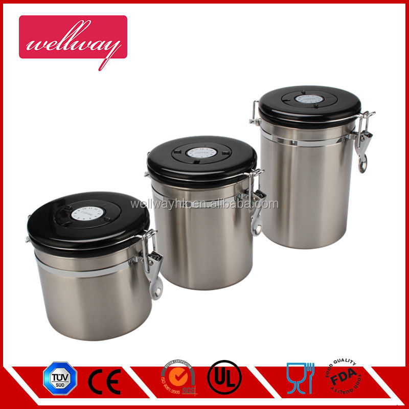 Stainless Steel 3-Piece Canister Set with Lid