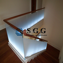 High Quality 8MM 10MM 12MM15MM 19MM Acid Etched Frosted Tempered Glass Railing Price