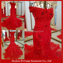 EL089 Luxurious heavy hand work long evening dress fish cut arabic style evening gowns dresses