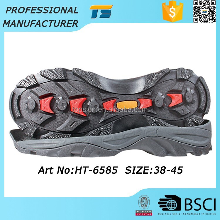 New Style Oil Resistant Unisex Phylon Trekking Non Marking Boot Rubber Outsole For Shoes