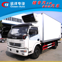 Dongfeng 5-8 TON frozen food refrigerator truck/ice cream transportation truck body/cooling box truck