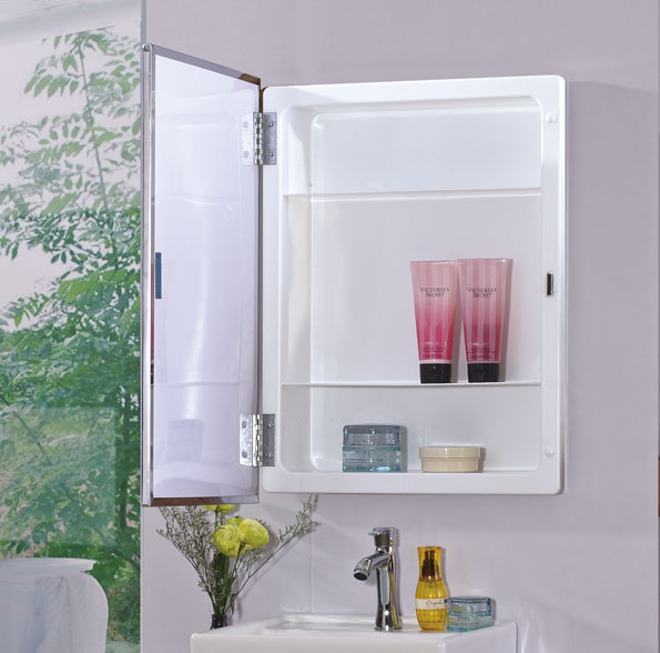 Mirror factory wholesale mirrored storage led light bathroom wall cabinet