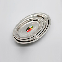 stainless steel egg shape dishes and plates food tray food serving dish plate