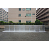 High quality aluminum crowd barrier with interlocking system