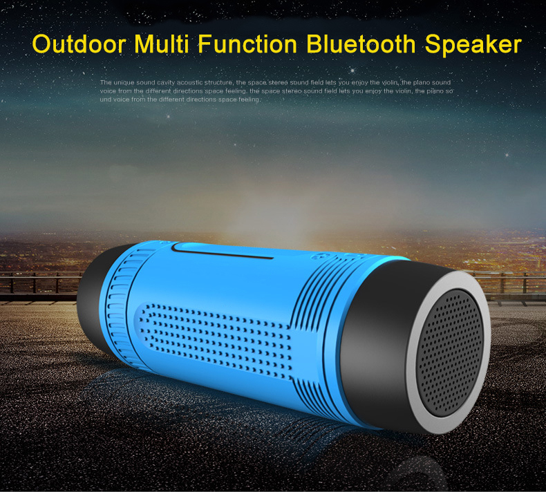 Portable outdoor waterproof multi function riding bluetooth speaker