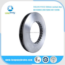 Professional disco de/disc/disk/rotor for FH12 434mm vented disc made in china factory oem commerical vehicle parts