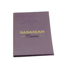 A4 size pu leather restaurant menu cover