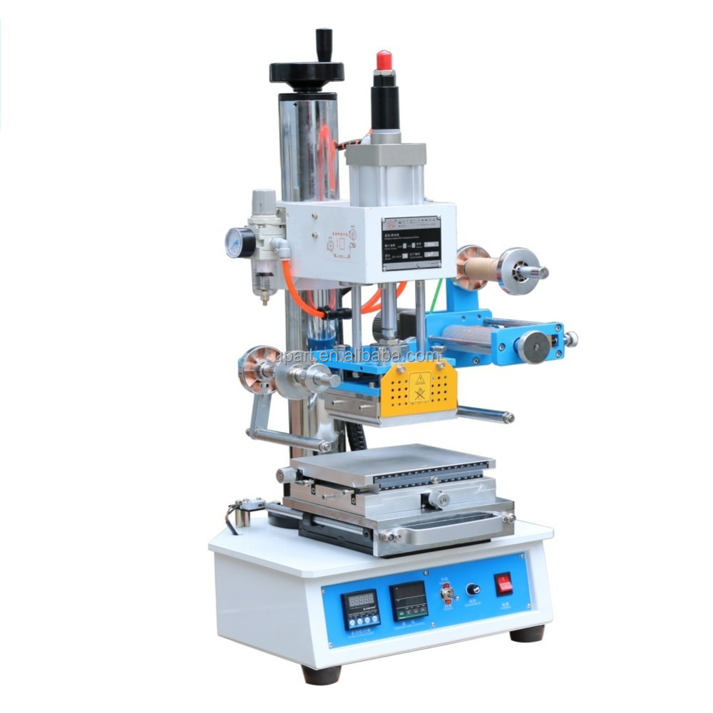 tabletop hot foil stamping machine hot stamping machine for leather /business card printer machine/leather logo emboss