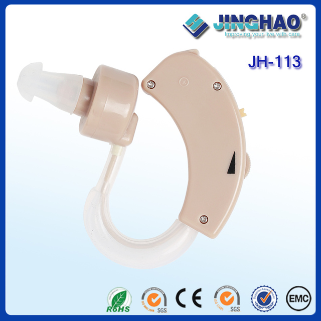 China wholesale classic style 20db BTE hearing aid sound amplifiers