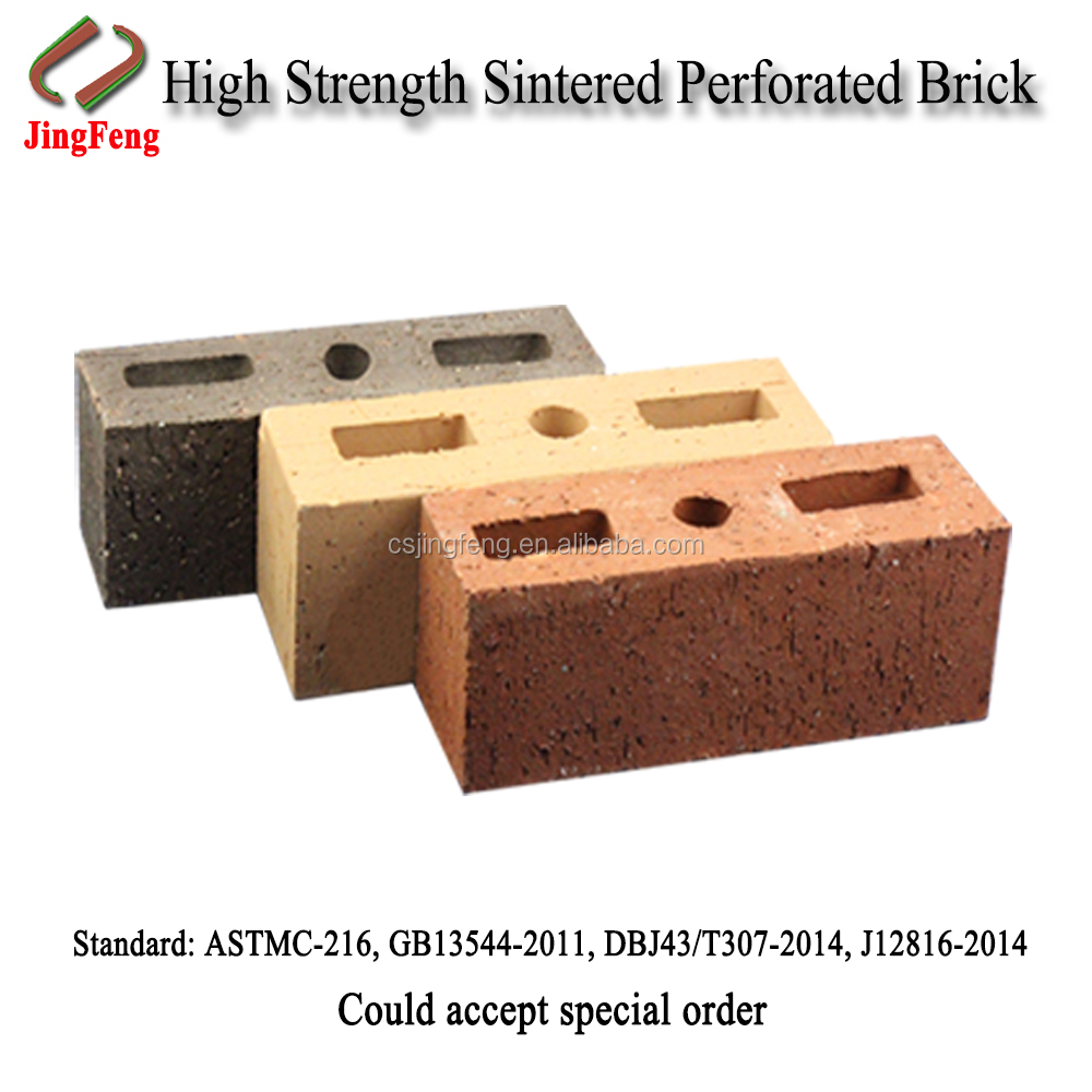 Wall construction brick, Shale Hollow Building Brick