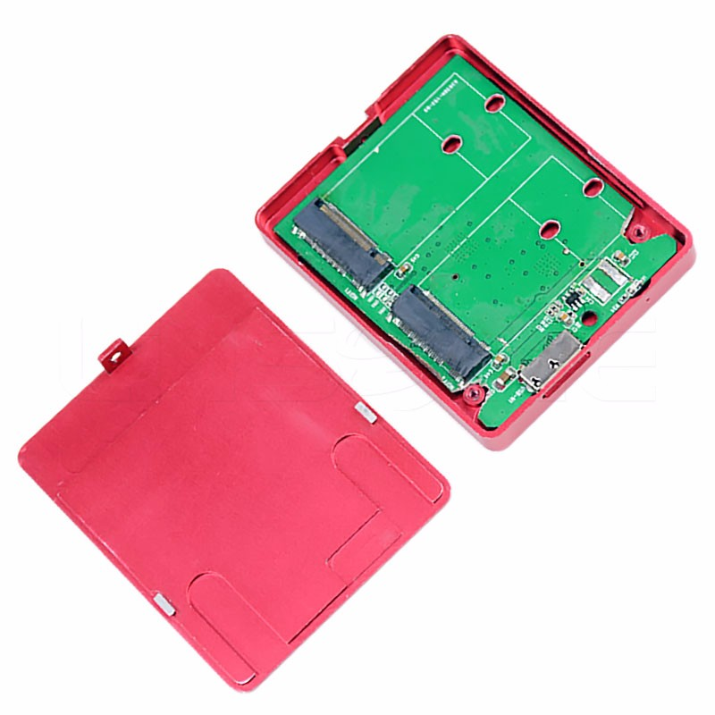Aluminum red 2.5 sata usb 3.0 hard drive enclosure external hdd case for laptop
