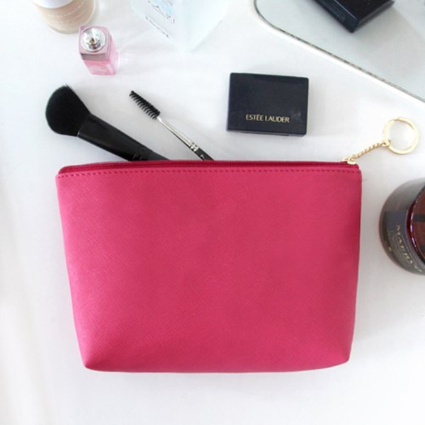 2018 Golden supplier custom pu cosmetic bag makeup travel toiletry bag women pouch wholesale
