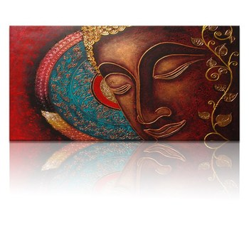 Buddha Abstract Oil Paintings / Modern Paintings of Buddha / Buddha Head Painting