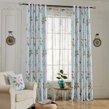 Fashion style floral designs window curtains