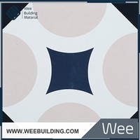 Item:ERB203 Blue Solid Color Porcelain Tiles 200x200mm
