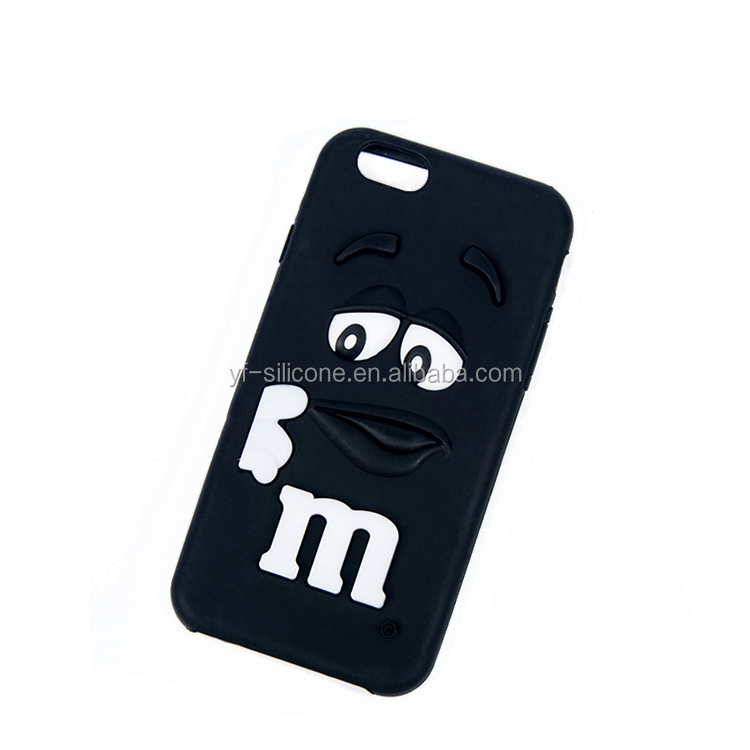 Advanced custom 3D logo silicone mobile phone case