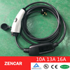 16A level 2 car ev charger, electric vehicle charging cable with UK plug