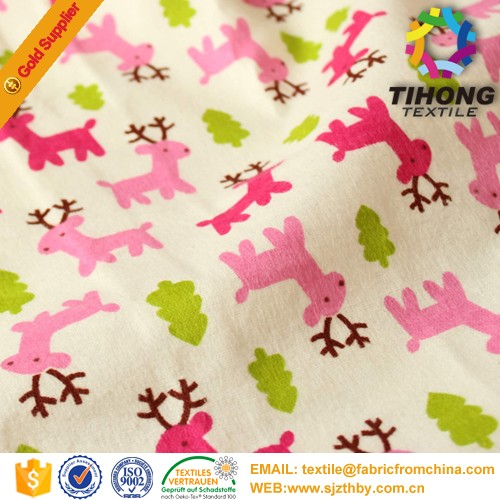 Soft and comfortable cotton flannel fabric