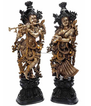 Attractive look decorative Lord Radha Krishna Brass Statue