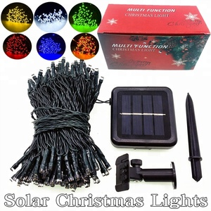 New 200L solar Christmas lights outdoor waterproof garden decorative lights. powered led string fairy string lights