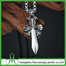 Punk Men's Necklace Sword Stainless Steel Cast Pendant
