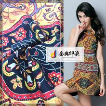 Made in China designer breathable woven printed floral plain chiffon