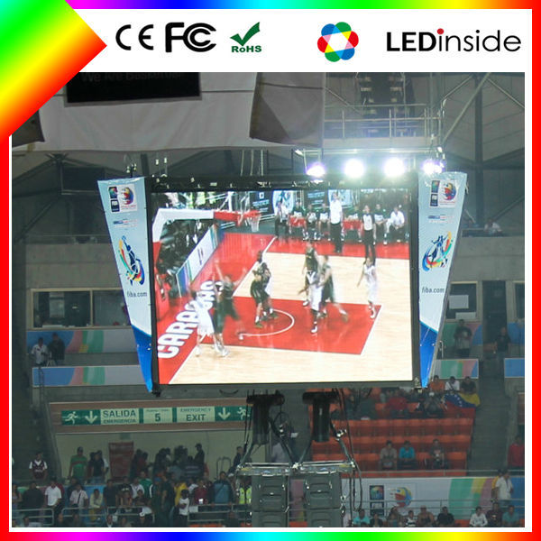 fixed installation p6 led display board software full color led indoor screen