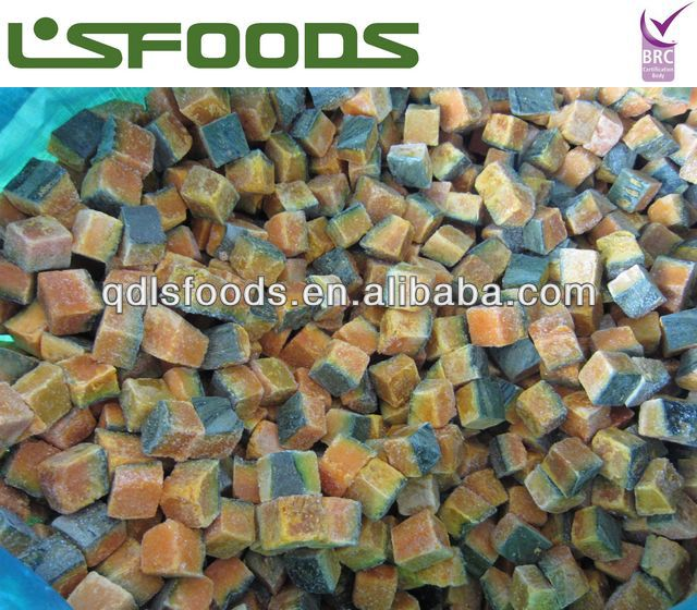 2013 Chinese new crop IQF frozen pumpkin pieces