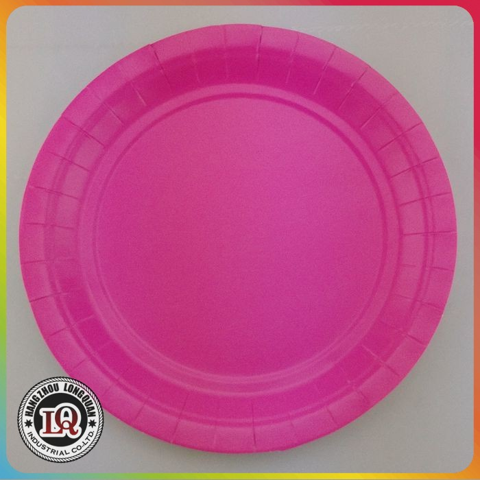 Pink Disposable Paper Plate Wholesale