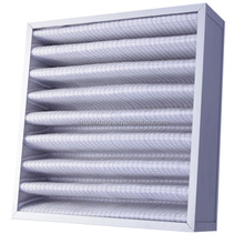 Non Woven Fabric GI / AL Frame Washable Pleated Panel Air Filter G4