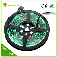 Holiday decoration Non-Waterproof Flexible 12V 5M 300LED 5050 RGB submersible led light 12v waterproof ip68