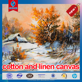 New Cotton and linen blended canvas for inkjet printing