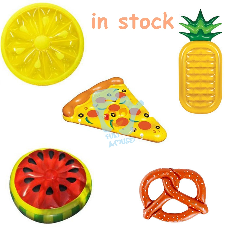 2016 promotion water float inflatable pizza inflatable donut
