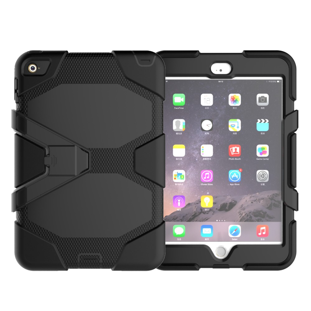 PC Silicone Hybrid Armor Cover Case For iPad Mini 4 Rugged Shockproof Case