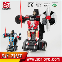 2015 New design rc car toys with led light transformation remote control can dance and fight good performance
