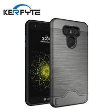 Factory price accessories brushed tpu+pc shockproof phone case for lg g6