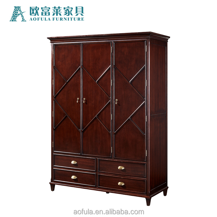 one bedroom wooden house furniture bed vintage assembled wardrobe