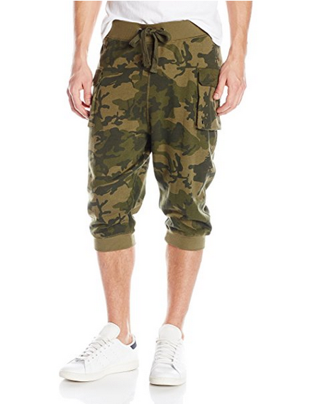 Newest Design Hot Selling Items Men's Cargo Cropped Pants Camouflage Gym Shorts