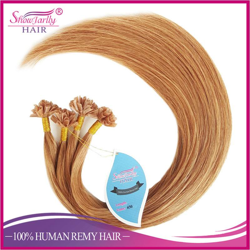 Hot Selling Red Brown U Tip Prebonded Hair Extension, Alibaba China Silky Straight Wave U Tip Remy Hair Extensions