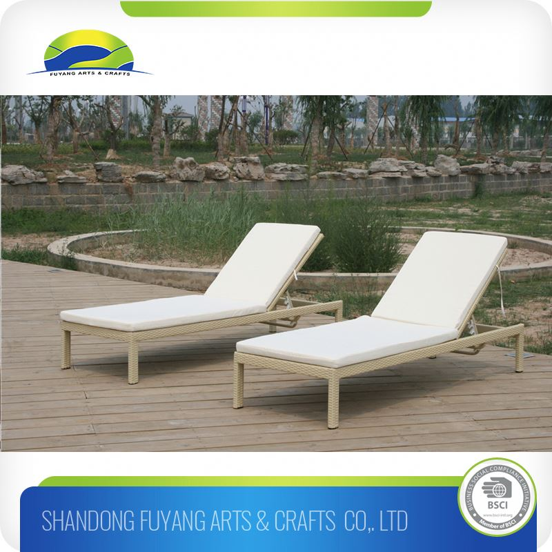 Outdoor Furniture Rattan Reclining Chair Chaise Lounge