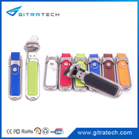 8G 16G 32g 64G Pormo quality and excellence Leather Hot Stamp Option Usb Flash Drive For your company presentation