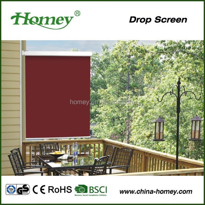 European style easy fixing waterproof outdoor blinds