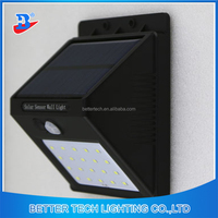 6or 20leds Motion Sensor Solar Powered Outdoor Wall Light