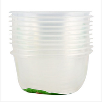 Wholesale Stock Small Order Home Life Thicken Environmental Transparent 10 In 1 Disposable Plastic Bowl